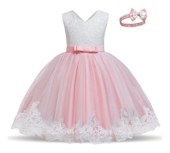 Vestido Niña Princesa Encaje Dama De Compañía