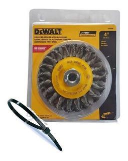 Cepillo Trenzado 4 Dewalt Dw4930m Para Amoladora 100 Mm +reg