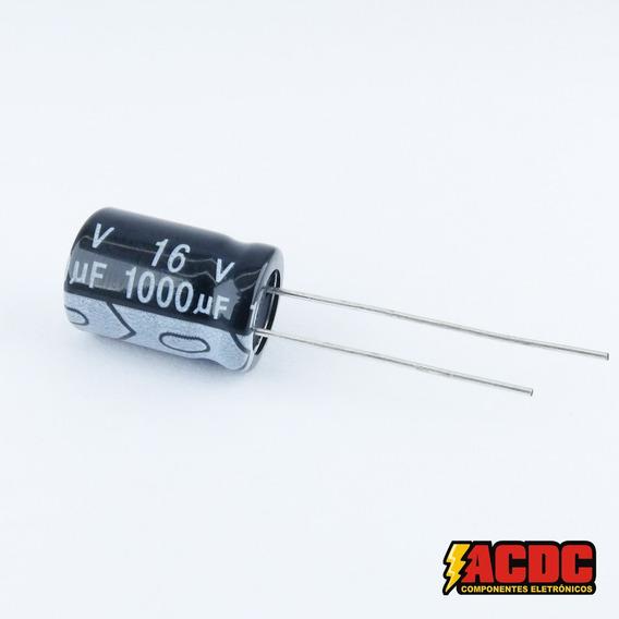 10 Pçs Capacitor Eletrolítico 16v 1000uf