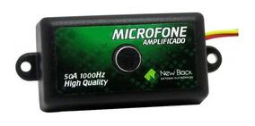 Microfone New Back Amplificado Cftv Dvr Profissional