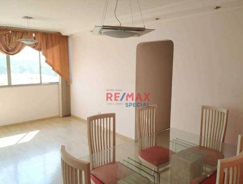 Imagem 1 de 6 de Apartamento Com 3 Dormitórios Para Alugar, 84 M² Por R$ 2.200,00/mês - Vila Augusta - Guarulhos/sp - Ap0403