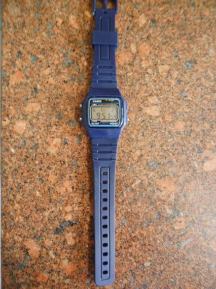 Relógio Masculino Casio Azul Pulseira De Plástico