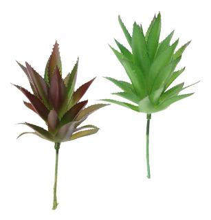 2pcs Plantas Suculentas Artificiales Adornos Interiores O