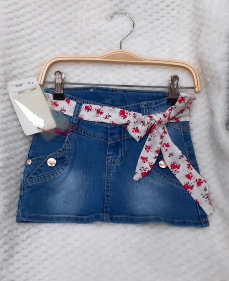 Falda Niña Jeans Tela Suave