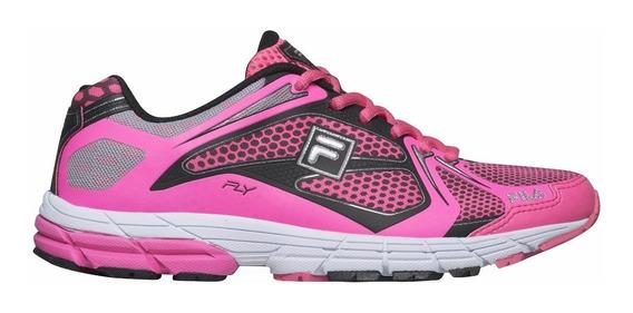 Zapatillas Fila Fly W Running Rosa Fluo Envío A Todo El Pais