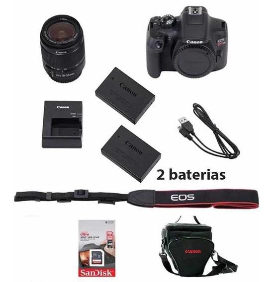 Canon Rebel T6i C/ 18-55mm +32gb + Bolsa + Tripé+ Bat. Extra