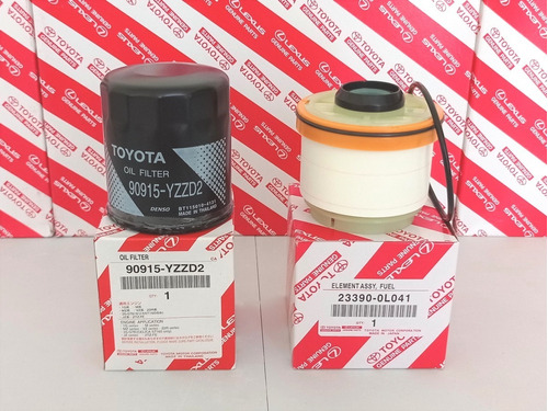 Pack Filtro Aceite + Filtro Petroleo Toyota Hilux 2005-2015