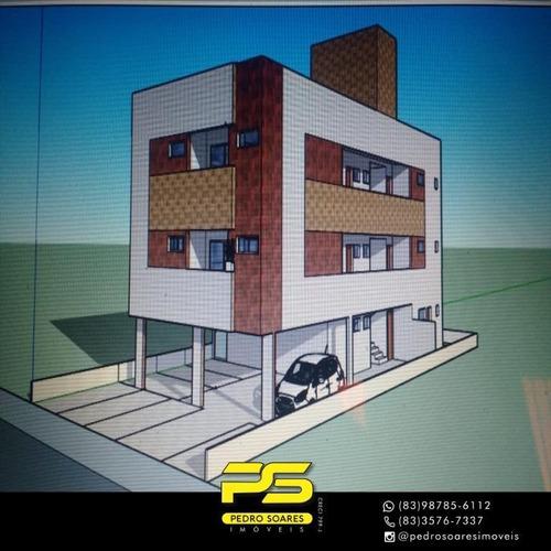 Apartamento Com 2 Dormitórios À Venda, 55 M² Por R$ 149.900 - Valentina De Figueiredo - João Pessoa/pb - Ap3846