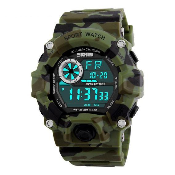 Relógio Masculino Digital Skmei Camuflado Wr50m Fg