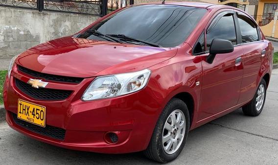 Chevrolet Sail Lt 2017 1.4l Mecanico Rojo Velvet