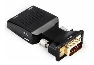 Adaptador Conversor Hdmi A Vga Con Audio (hdmi In - Vga Out)