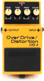 Pedal Boss Os2 Overdrive Distortion + Fonte