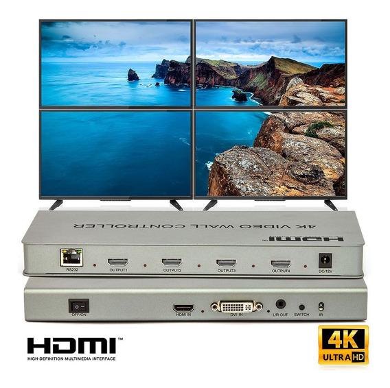Vídeo Wall 2x2 Hdmi - 4k Controlador - Cirilo Cabos