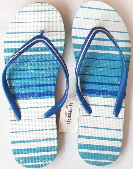 Sandalia Para Dama Aeropostale Modelo 9736 Azul Oferta