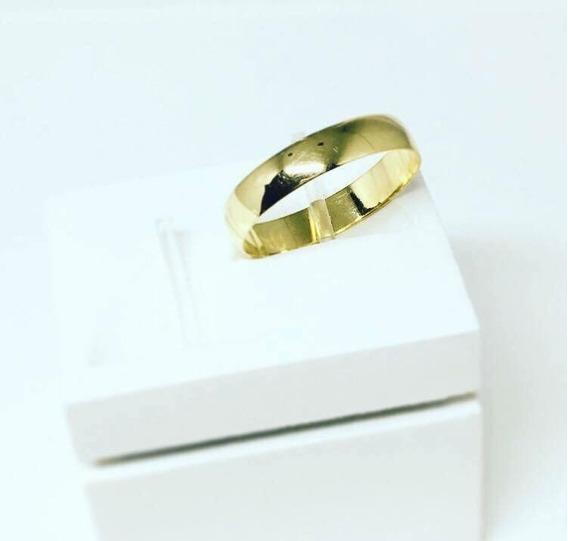 Aliança Ouro 10k Modelo 3