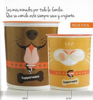 Set Tupperware Mascotas Hermético Balanceado Gato Y Perro