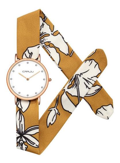 Crrju - Reloj De Pulsera Para Mujer, Elegante Y Colorido, De