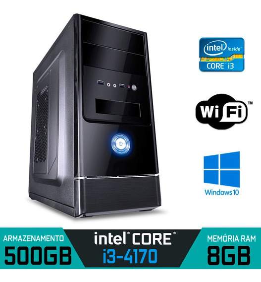 Computador Intel Core I3-4170 Ram 8gb Hd 500gb Windows 10