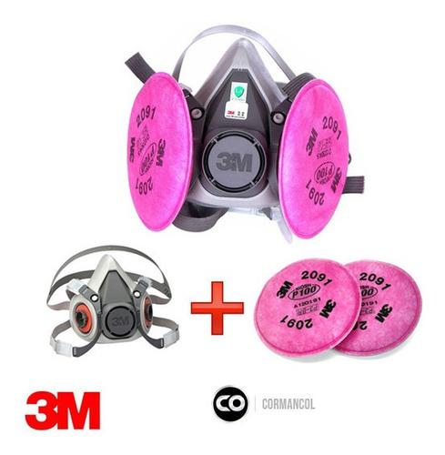 Mascara 3m Con Filtros P100 - 2091