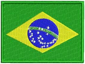 Patch Bordado Bd007 Bandeira Brasil 10x7,5cm Viagem Mochila