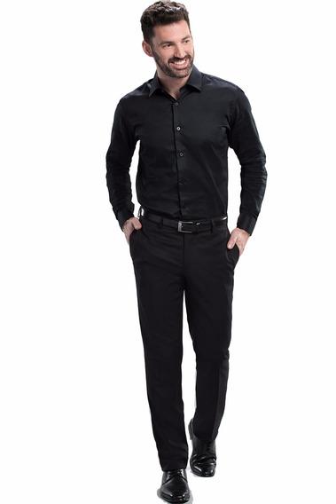 Pantalón De Vestir Liso Slim Fit Devré