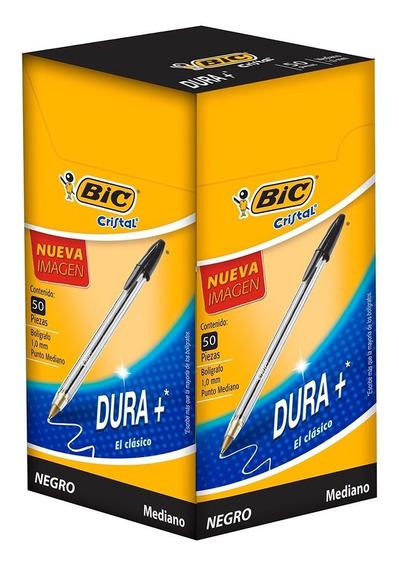 Bic Boligrafo Dura+ Tinta Negra Caja Con 50 Pz