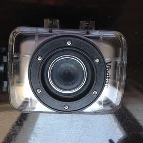 Câmera Filmadora De Ação Hd Com Caixa Estanque E Acessórios