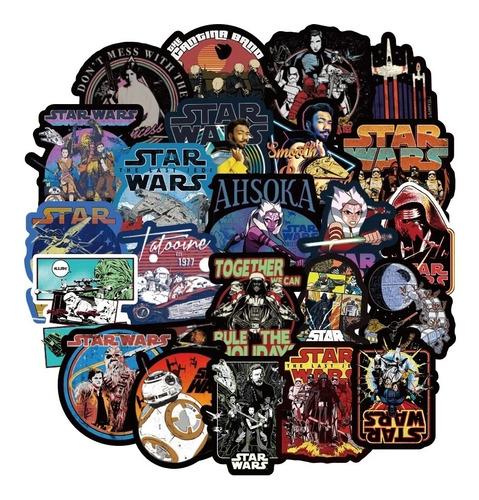 50 Stickers Calcomanías Star Wars Skywalker Clones R2-d2