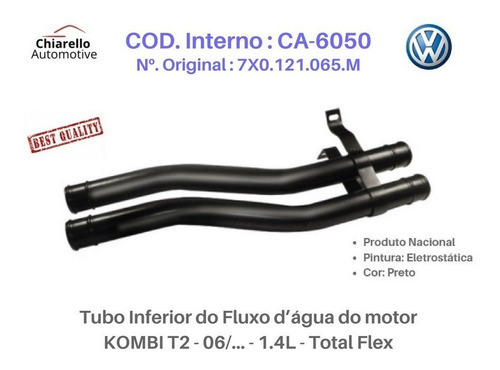 Tubo Fluxo D¿água Kombi T2 - 06/... - 1.4l - Total Flex