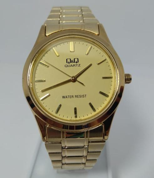 Relógio Q&q By Citizen Dourado Q712-010y