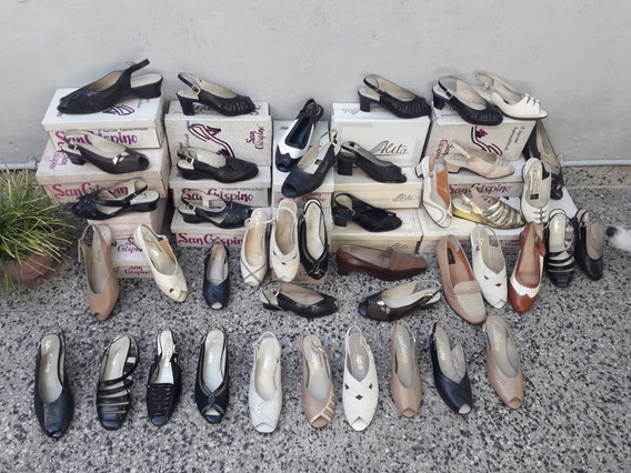 Lote De 42 Pares De Zapatos Finos De Mujer. Nuevos Impecable