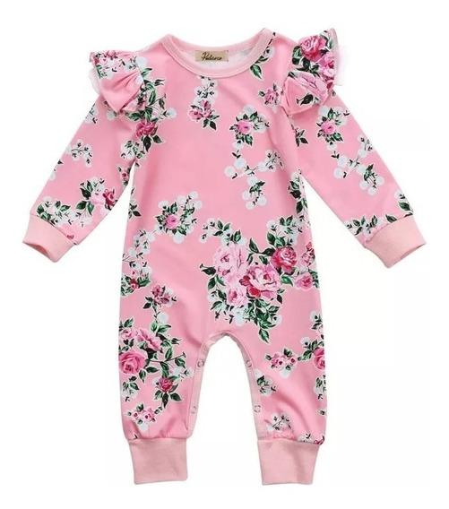 Mameluco Bebé Niña Manga Larga Floral