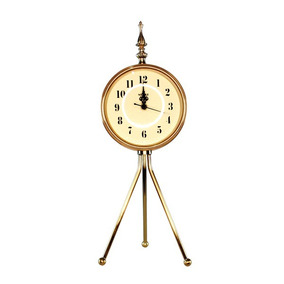 Relógio Tripé Dourado 46x16x16cm Luxo