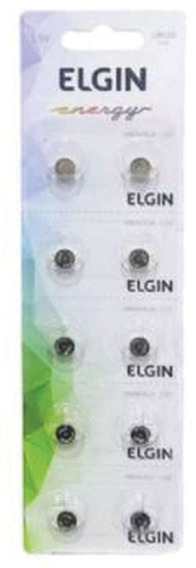 5 Pilha Bateria Botao Lr626 1,5v. Elgin Ct.c/10