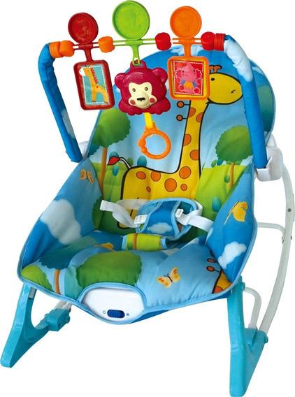 Cadeira Descanso Bebê Base Curva Balanço Vibra Som Inmetro