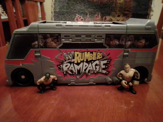Autobús Lucha Libre Wwe Rumblers Rampage Con 2 Figuras