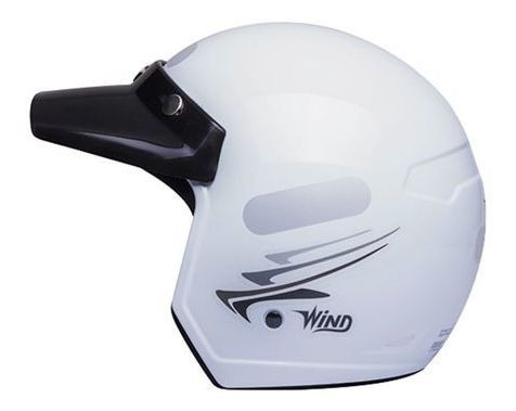 Capacete Taurus Wind Speed Lines Branco Tamanho 58