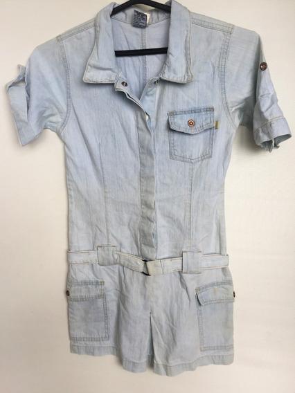 Vestido Jeans Infantil Lápis De Cor Tam.14a