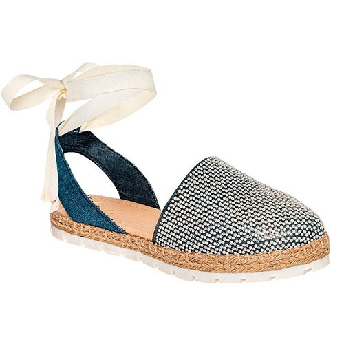 Zapato Flats De Mujer Gosh Mezclilla 84243 Envio Inmediato