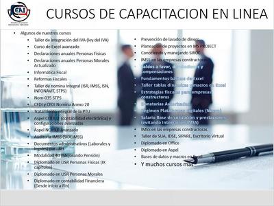 Cursos Contables, Fiscales Y Laborales (nominas) En Linea