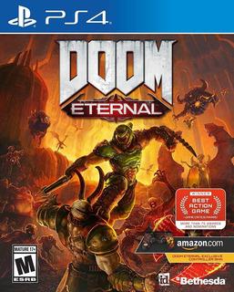 Doom Eternal Ps4 Nuevo Sellado Con Contenido Adicional Ya