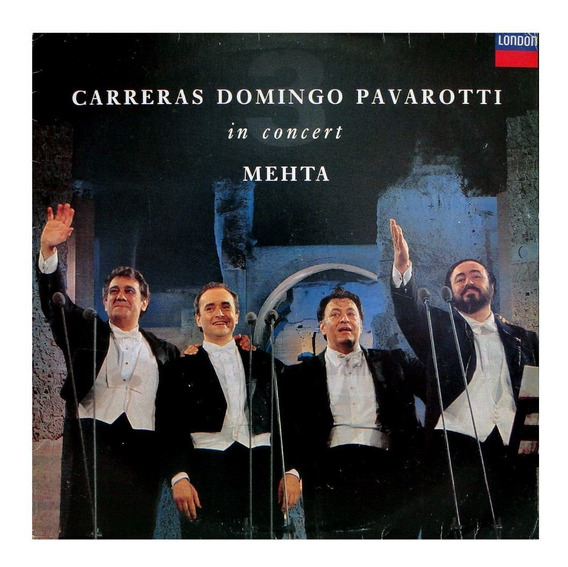 Lp Disco Vinil Carreras Domingo Pavarotti - In Concert