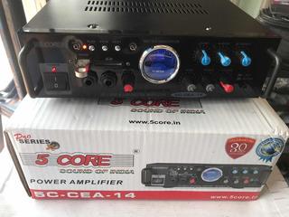 Potencia Amplificador Micrófono Usb Sd Carros 5core