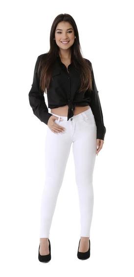 Calças Femininas Jeans Sawary Levanta Bumbum C/ Lycra Branca