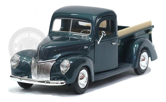 Miniatura Pickup Ford 1940 Verde Motormax 1/24