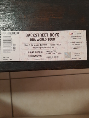 Entrada Backstreet Boys En Argentina