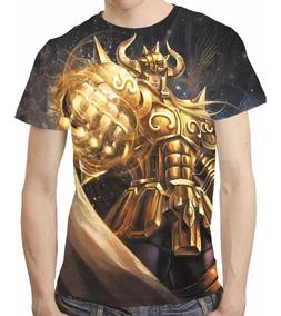 Camisa Cavaleiros Do Zodiaco Camiseta Aldebaran De Touro Hd