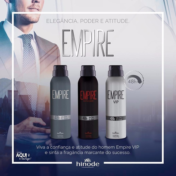 Desodorante Empire Vip, Intense, Sport Ou Tradicional 150ml
