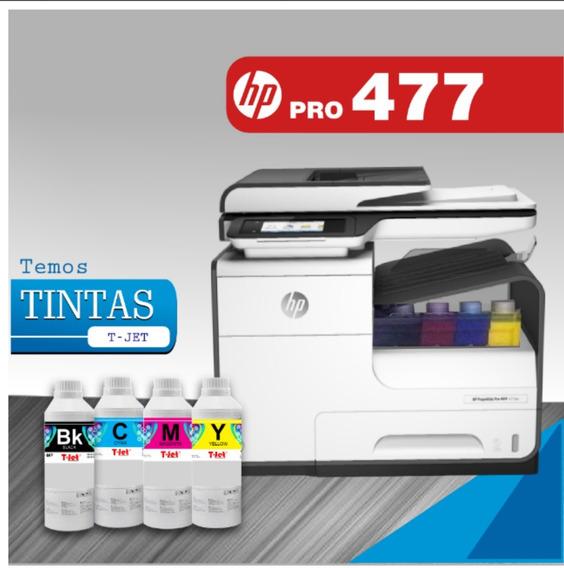 Hp Pagewide Pro 477dw Desbloqueio 3.0 + Bulk Com Tintas.