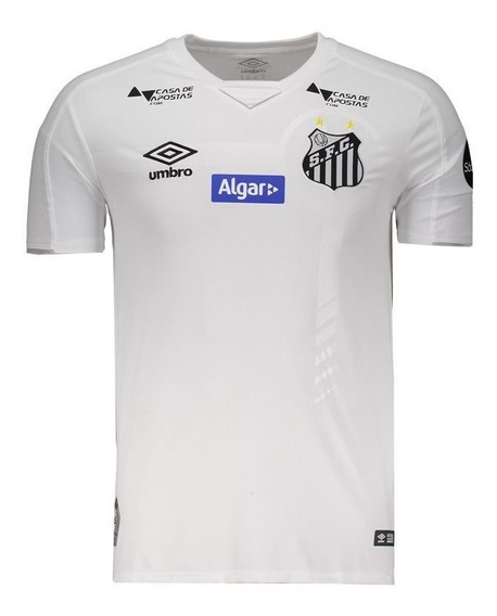 Camisa Umbro Santos I 2019 Com Patrocínio